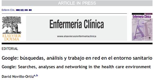 Google: búsquedas, análisis y trabajo en red en el entorno sanitario