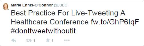 Guía práctica para tuitear en directo una conferencia sobre cuidado de la salud